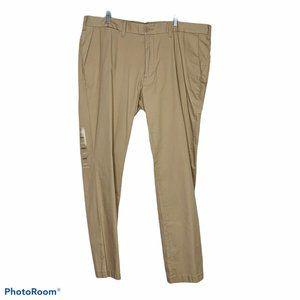 NWT Nautica khaki pants 42 W 32 L stretch slim fit